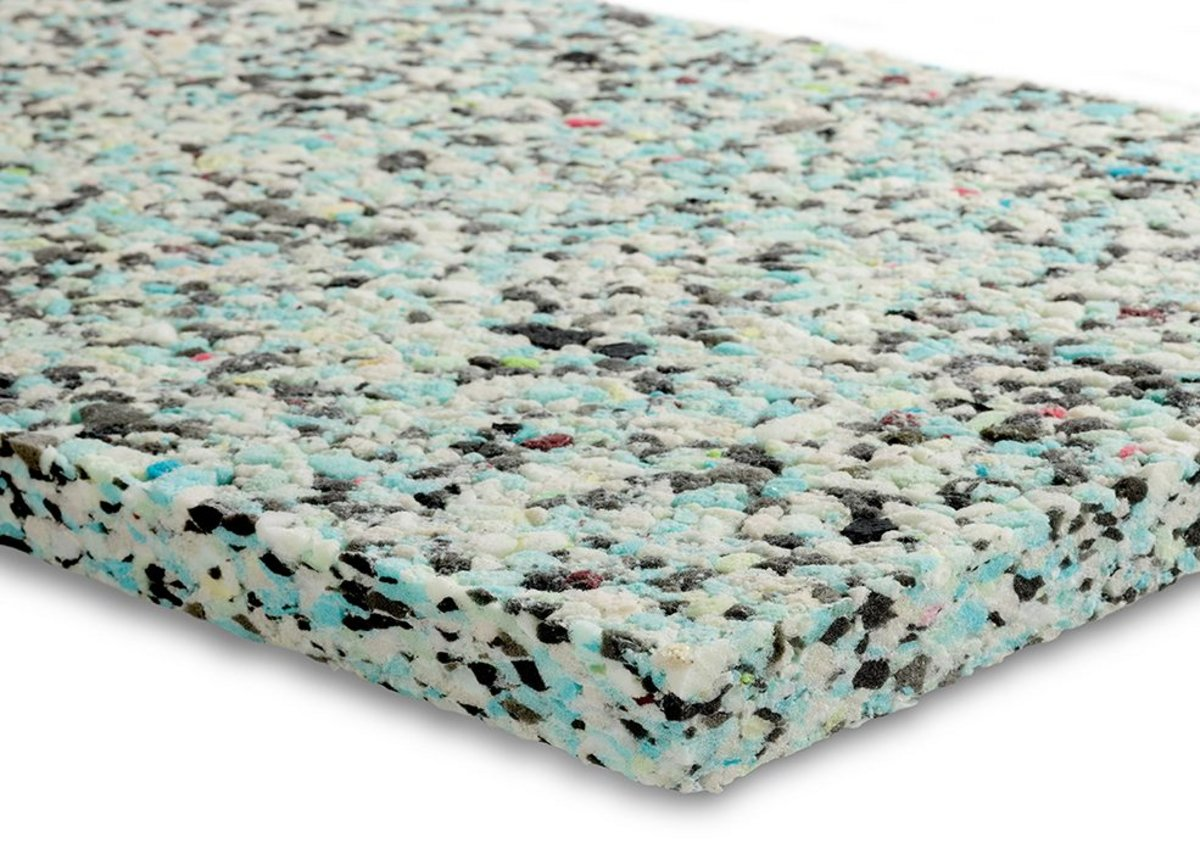Instasoft acoustic insulation panels are made from a combination of fibres and recycled polyurethane foam.