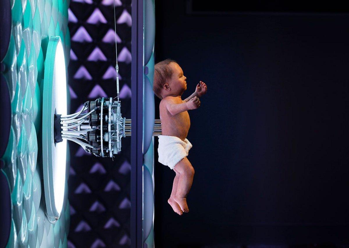Animatronic baby.