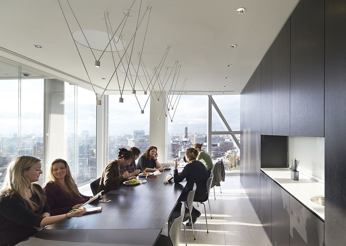 Light filled breakout areas in the John McAlsan and Partners' designed offices.
