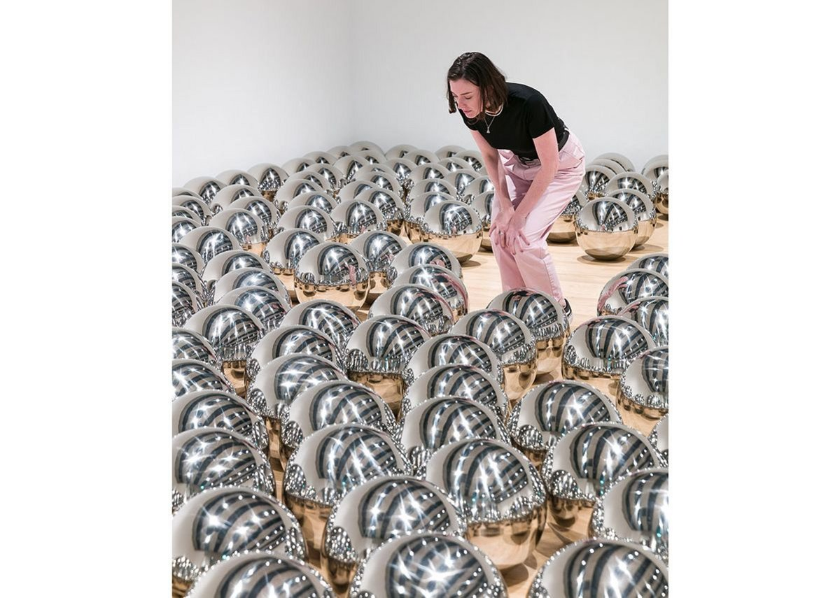 Installation view of Yayoi Kusama_ Narcissus Garden, 1966–, at Space Shifters,