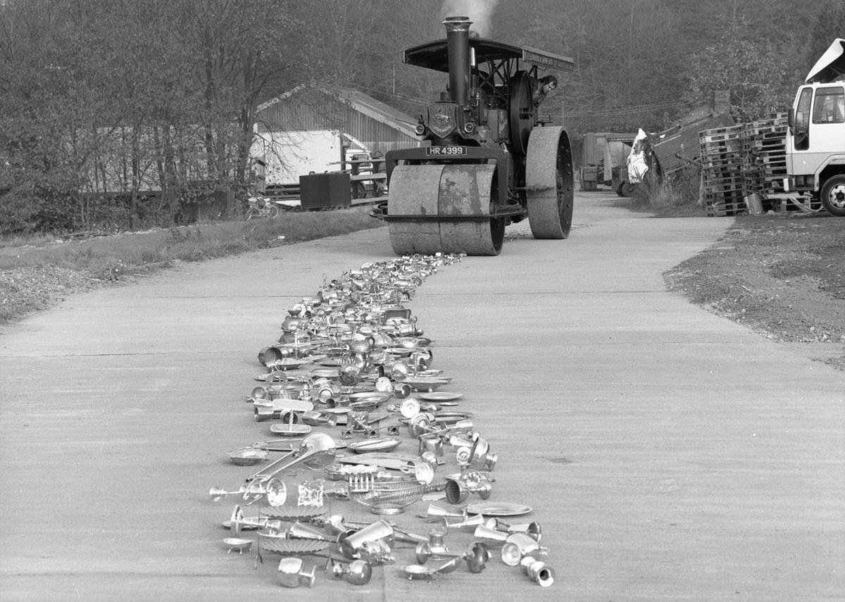Cornelia Parker, Thirty Pieces of Silver, 1988 (work in progress)
