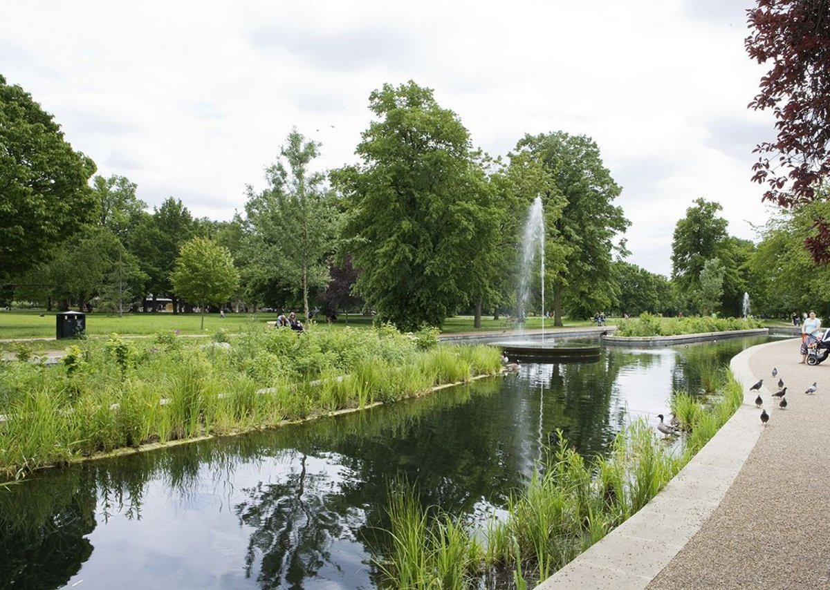 The newly relandscaped Walpole Park creates a more multi-functional and diverse setting for the public.