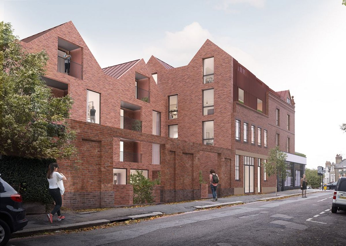 Mixed use development, Highgate, by pH+