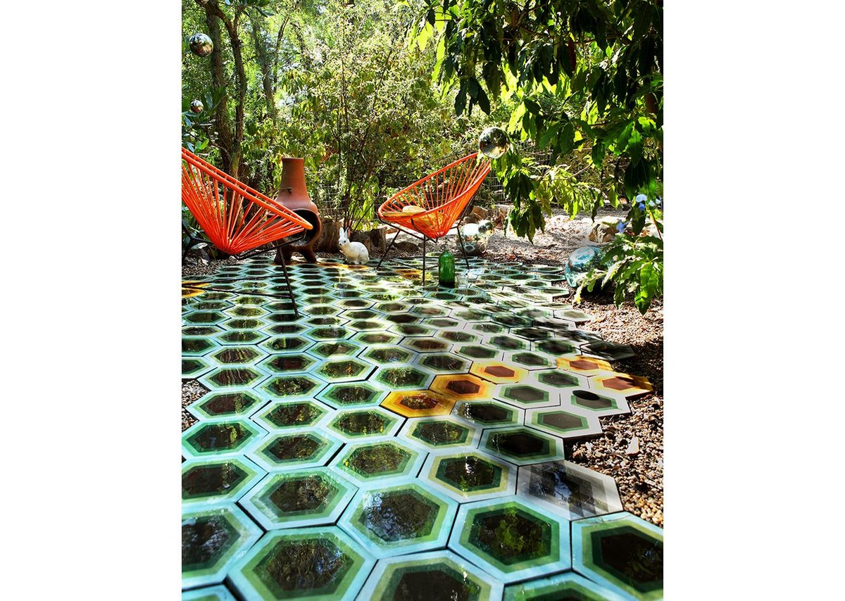 Cement and ceramic 'Hex' tiles by Kismet (Tracy Reinberg).