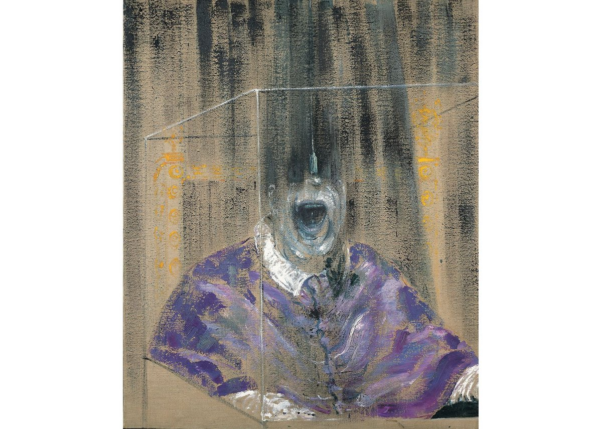 Francis-Bacon Head-VI, one of his Screaming Popes at the Ferens.