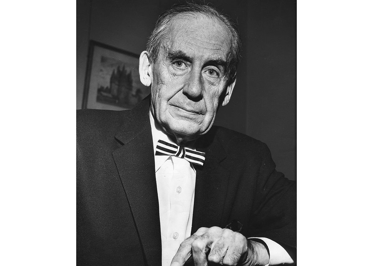 Walter Gropius on receiving the Royal Gold Medal at the Royal Institute of British Architects, London.