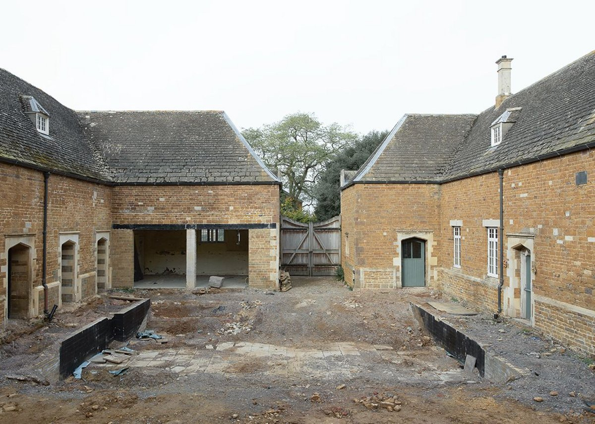 The original courtyard with dug-out orchestra pit.