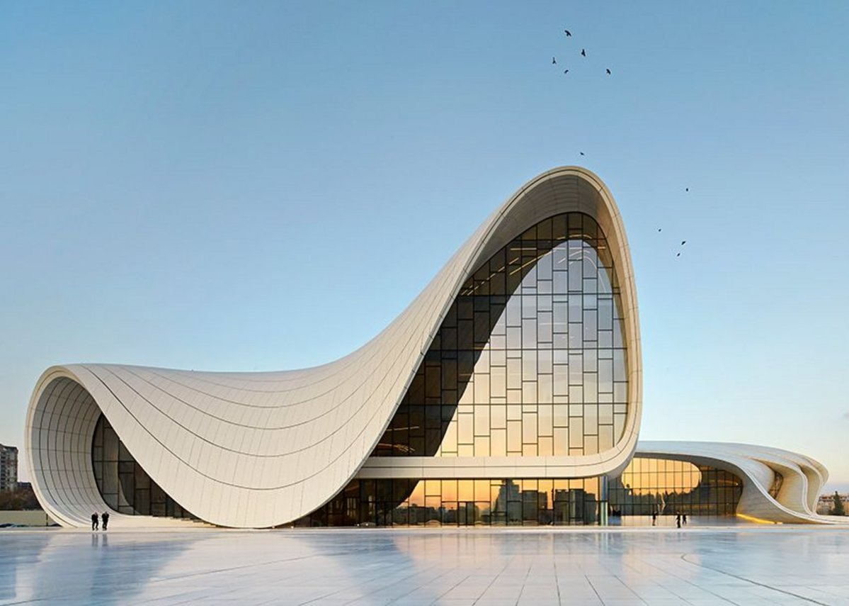 Heydar Aliyev Centre, Zaha Hadid Architects with DiA Holding in Azerbaijan, Baku.