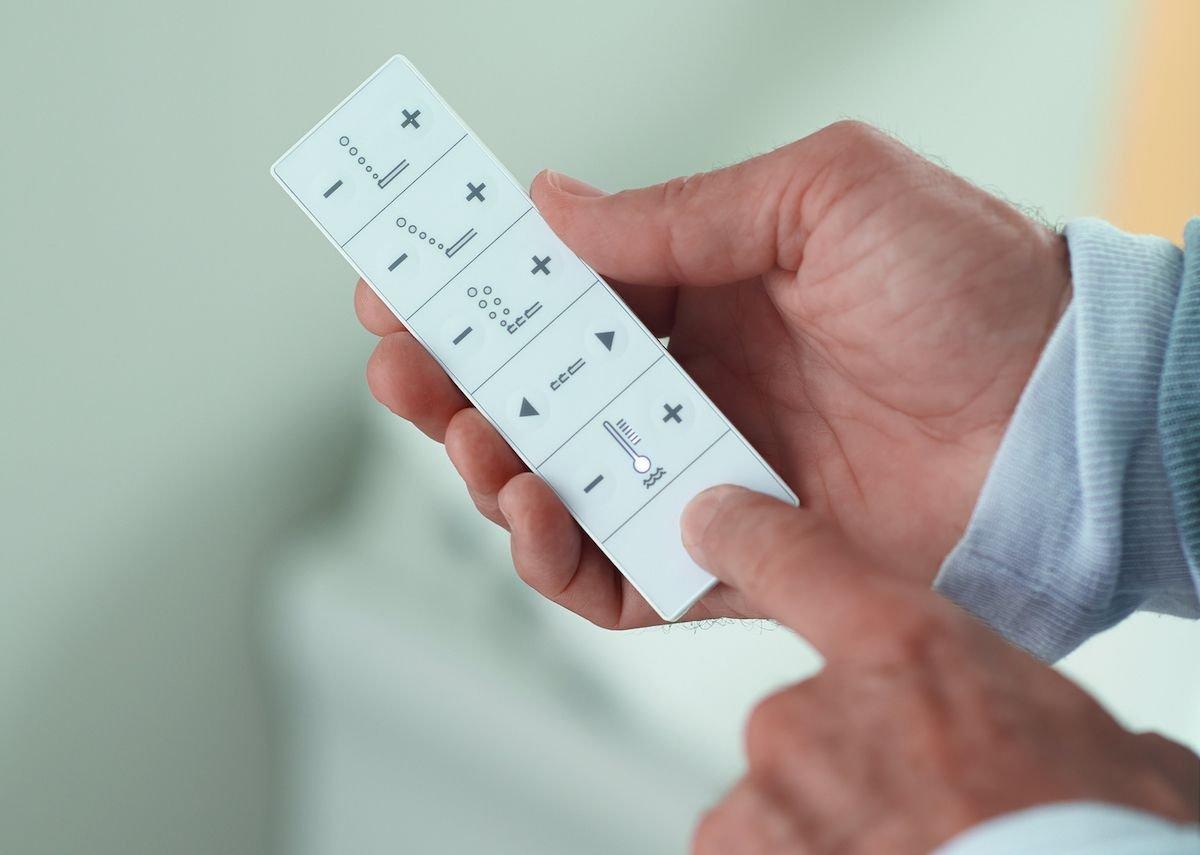 SensoWash Slim remote control.