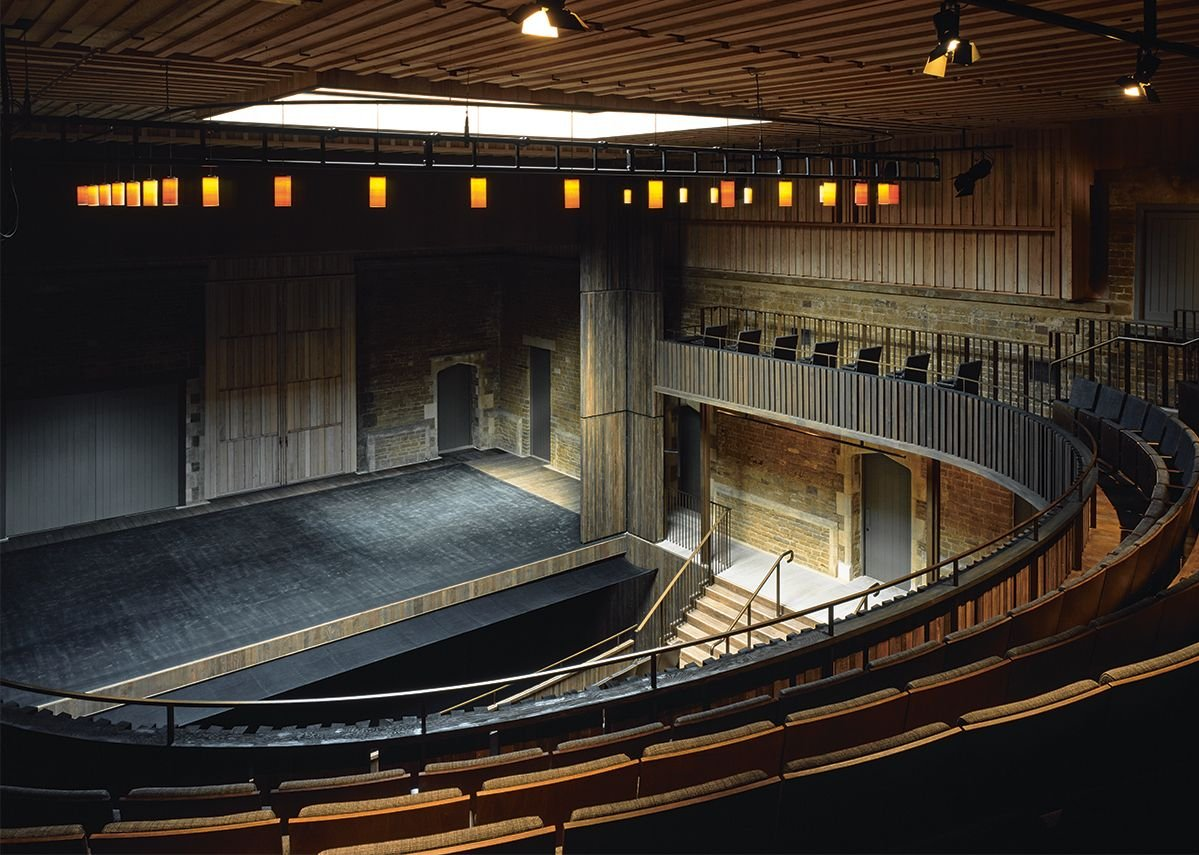 The 400-seat auditorium, with its horseshoe relationship to the stage, has real intimacy.