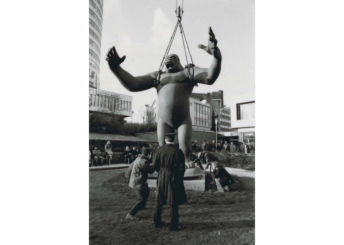 Nicholas Monro, King Kong, for City Sculpture Project, 1972, Bull Ring Birmingham. Eight cities were loaned sculptures by emerging artists with the option to buy - one of the 16 was kept.