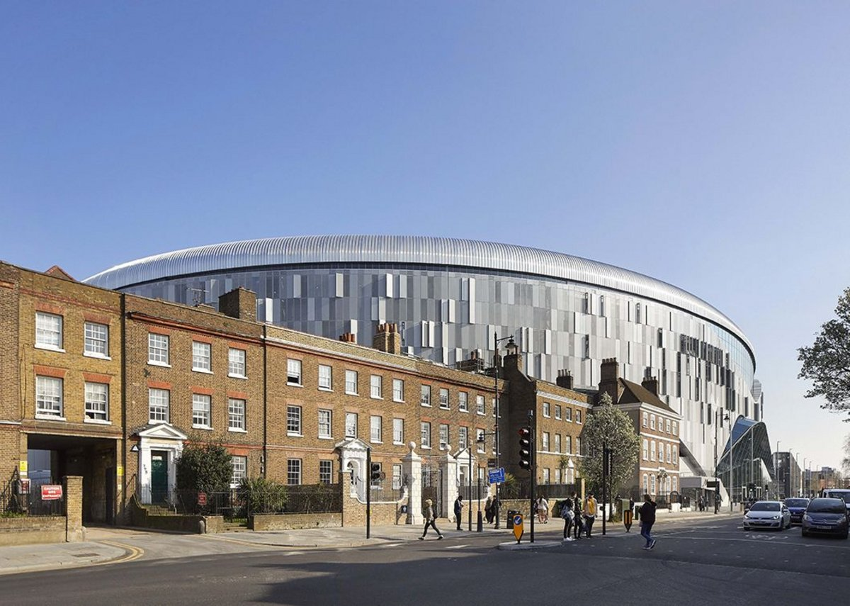 Tottenham Hotspur Stadium, on which Knuttson-Hall served as design architect.