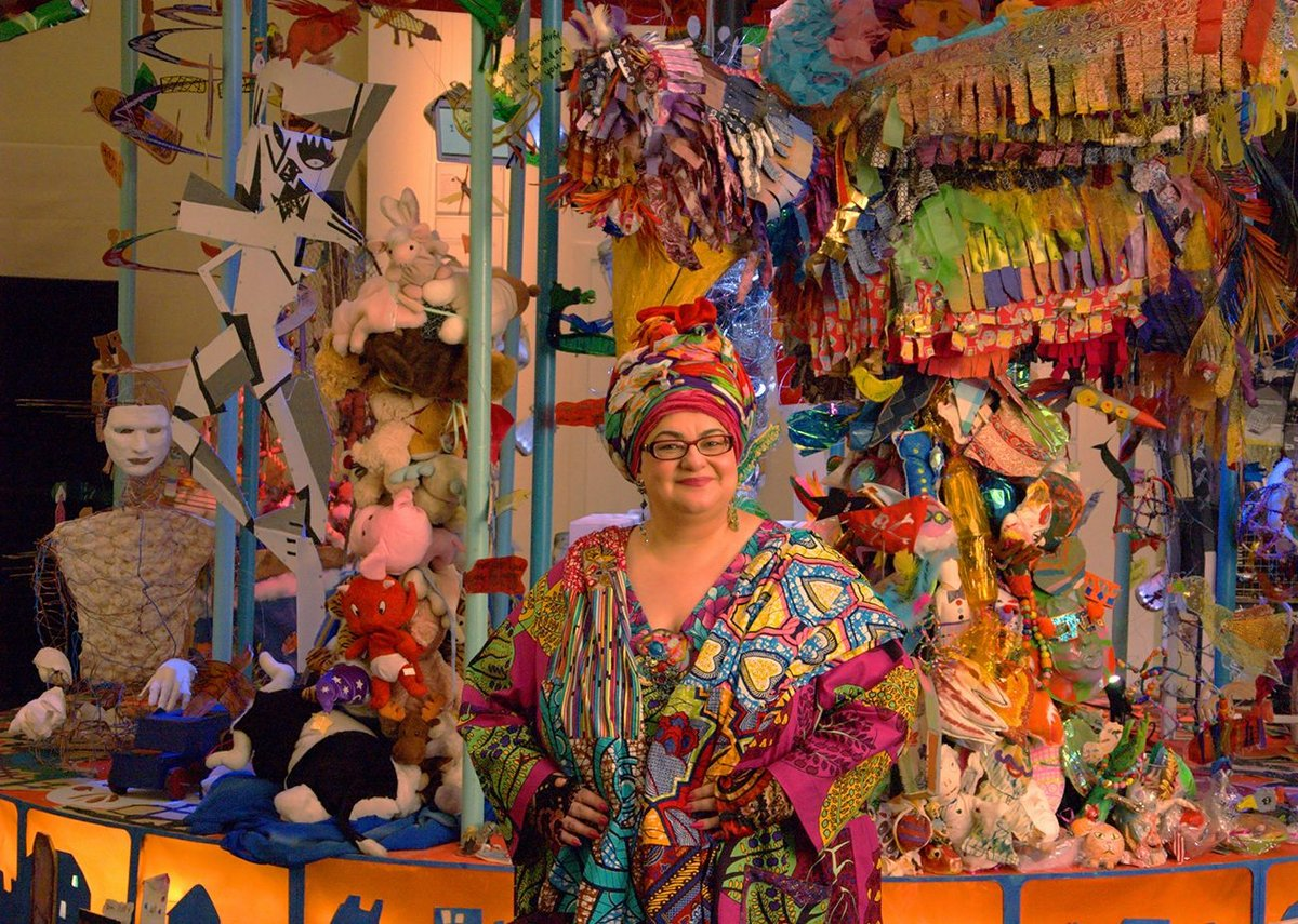 Camila Batmanghelidjh poses with inspirational carousel.