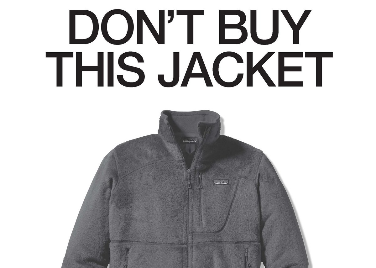 Patagonia ad: 'The company always grapples with the fact that it is a big company that's selling clothes. There's always a paradox.'
