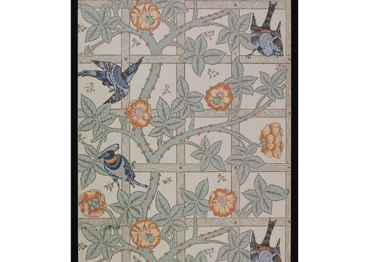 William Morris Trellis wallpaper design.