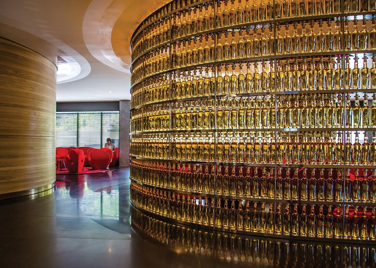 The Next Whisky Bar. Named by Arad and bearing his signature on its 2,500 whisky bottles.