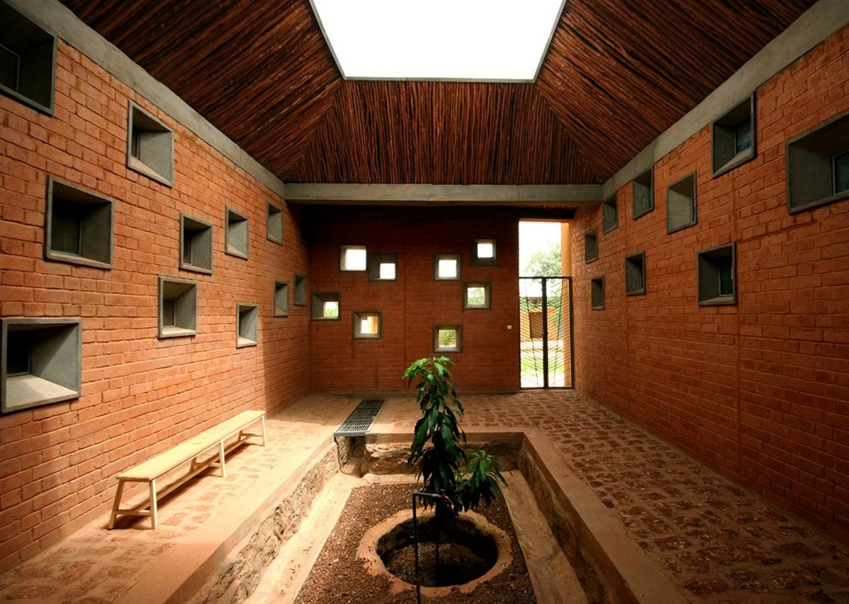 The clinic at the Opera Village in Burkina Faso, designed by Kéré Architecture.