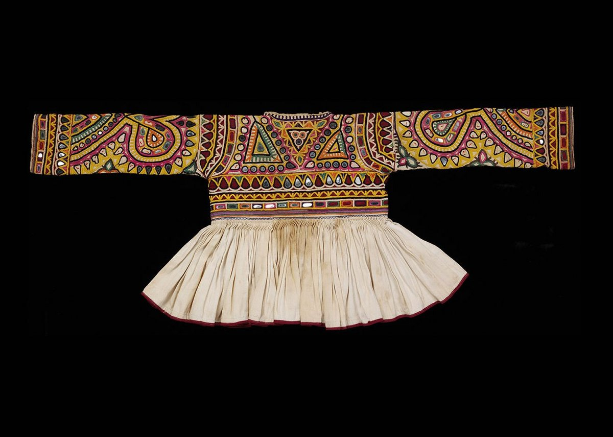 Rabari childs jacket cotton embroidered with silk Kutch 20th century.