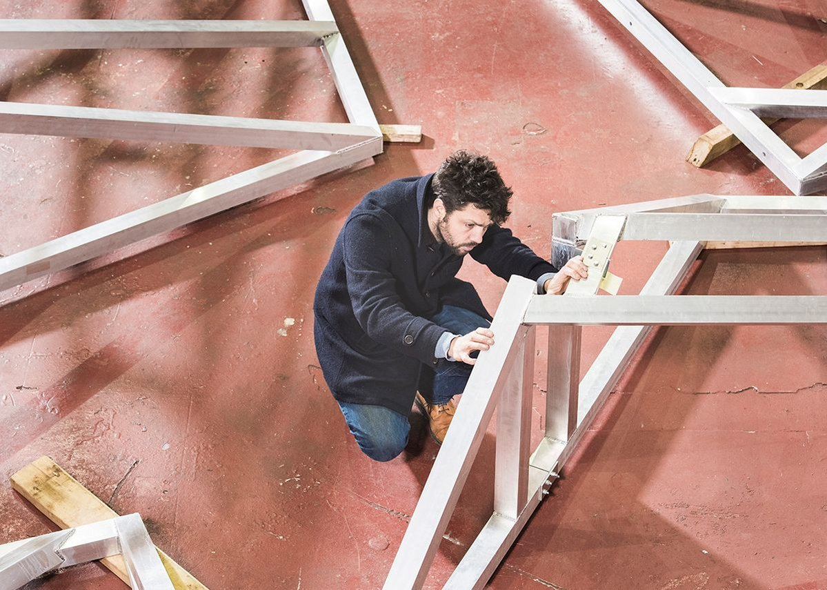 Conrad Shawcross, The Optic Cloak fabrication process, Metal Surgery.
