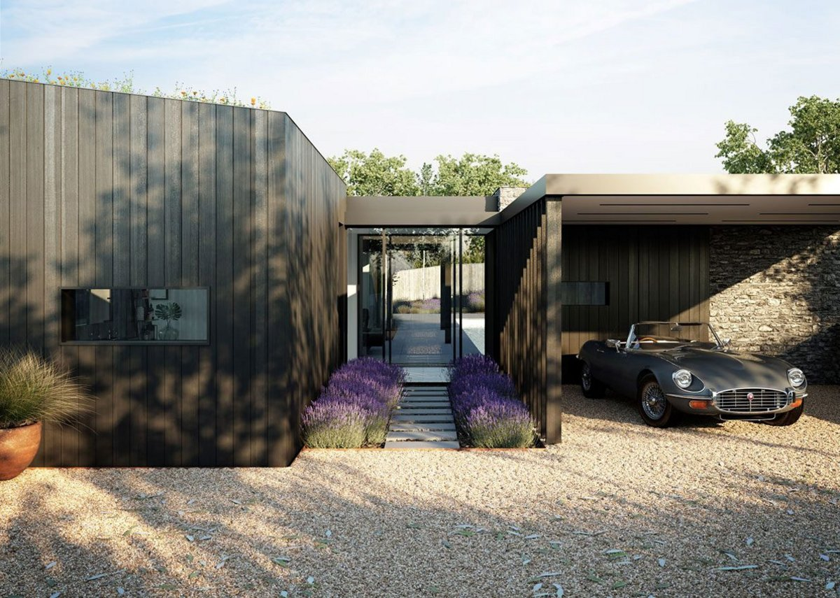 Hidden House, Surrey by Duncan Foster Architects.