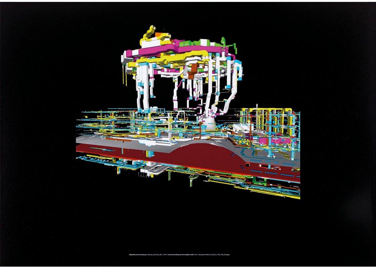 Elbphilharmonie Hamburg, Germany, 2001–2016, Technical Buildings Services, Herzog & de Meuron at the Royal Academy Summer Show 2017. Digital print, 84 × 119 cm.