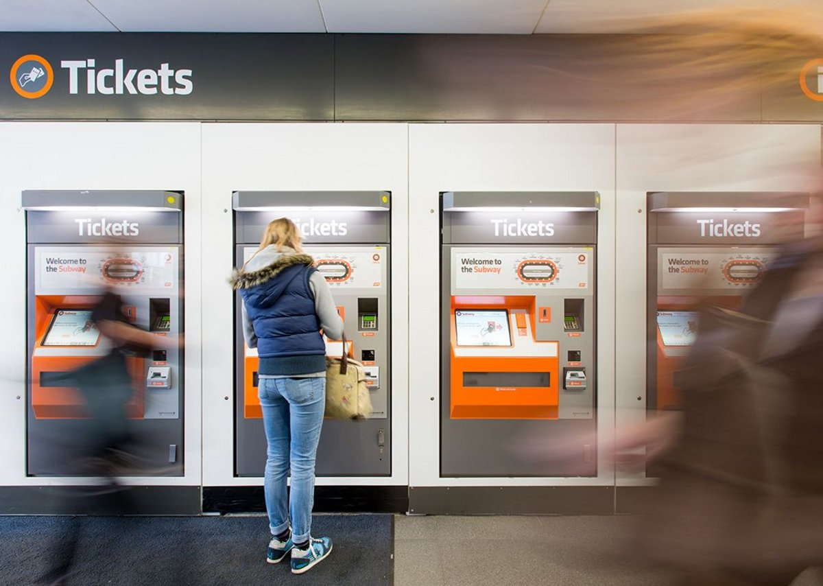 New ticket machines, signage and security barriers are consistent across all the modernised stations.