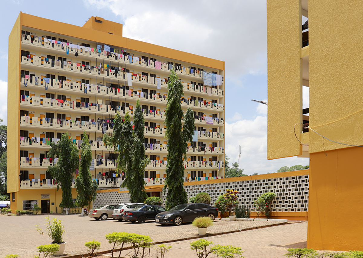 Africa Hall (Women's Hall 6), Kumasi, Ghana, designed 1964-5 by architect KNUST: John Owusu-Addo/ Miro Marasović (chief university architect), Niksa Ciko (architect in charge).