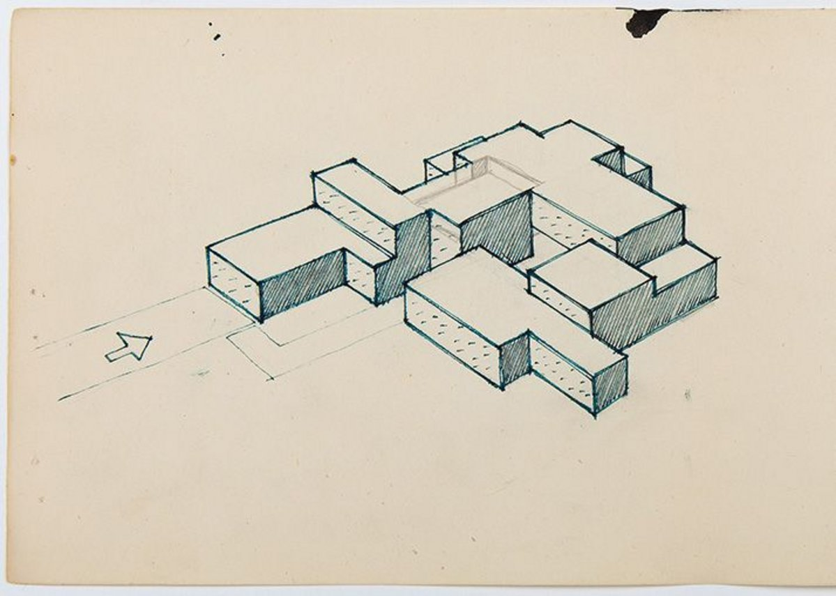 James Gowan, Study for an Expandable House, 1957.