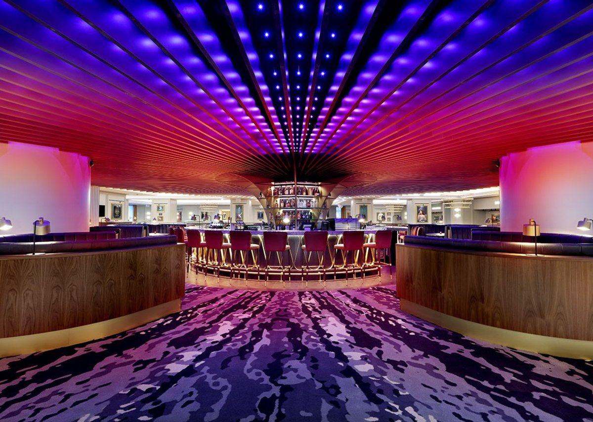 SonaSpray fc black decorative acoustic finish at the Hard Rock Hotel, London.