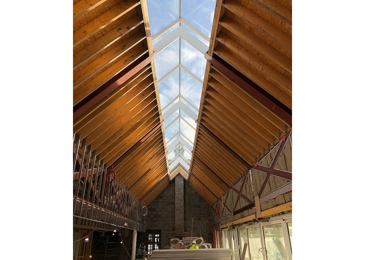 Tall order: the Ridgeglaze measures 20.5 metres long and is split into individual sections of glass that run down each roof return to 1.3 metres.