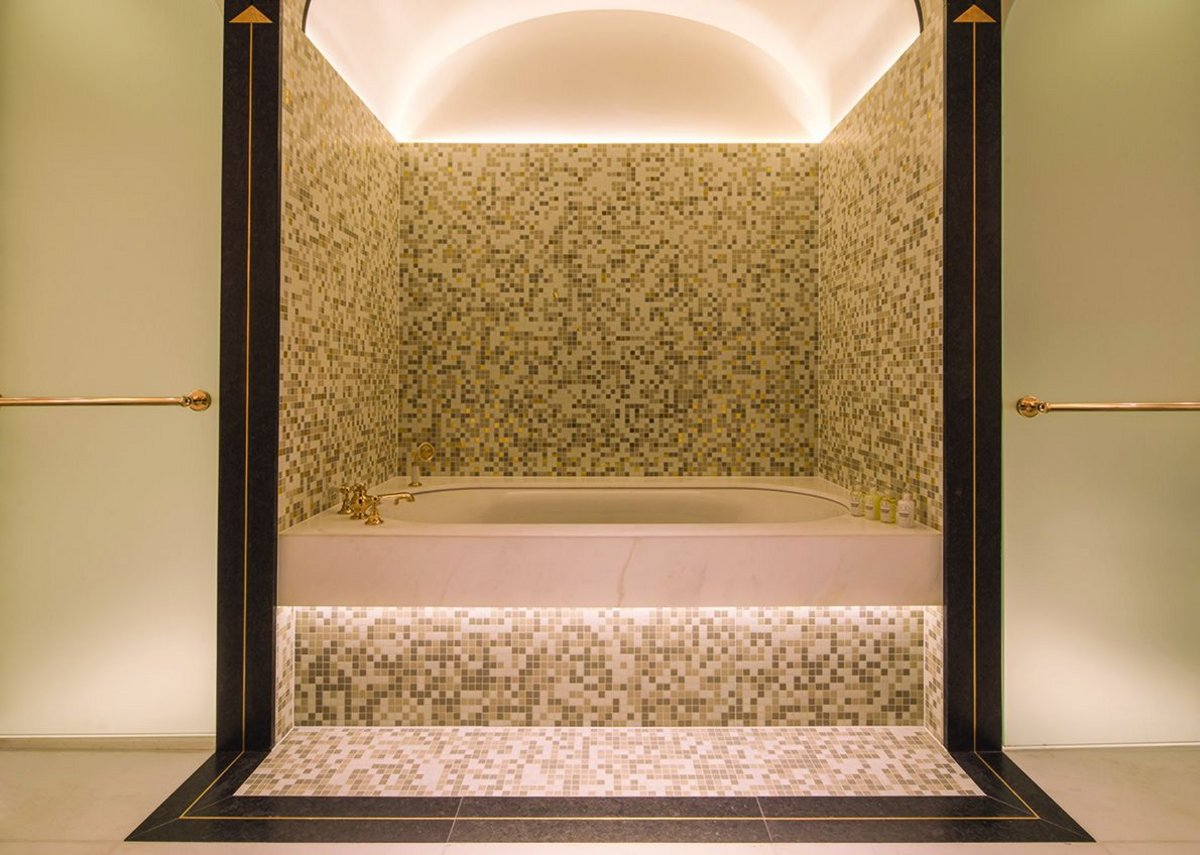 Marple mosaic tile forms the centerpiece of bathroom designs.