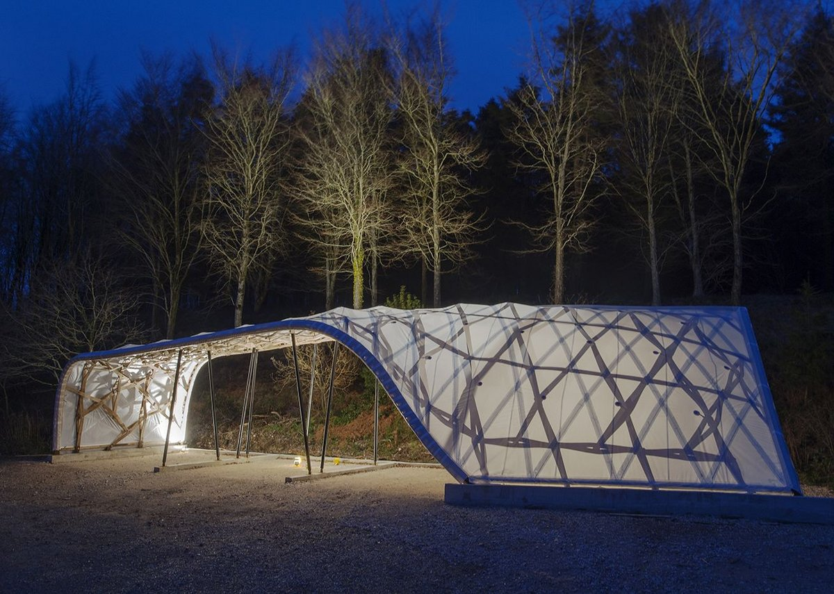 Timber Seasoning Shelter by Architectural Association.