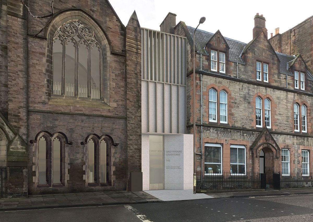 Edinburgh's Greyfriars Charteris Centre eschews stone for timber and Jesmonite.