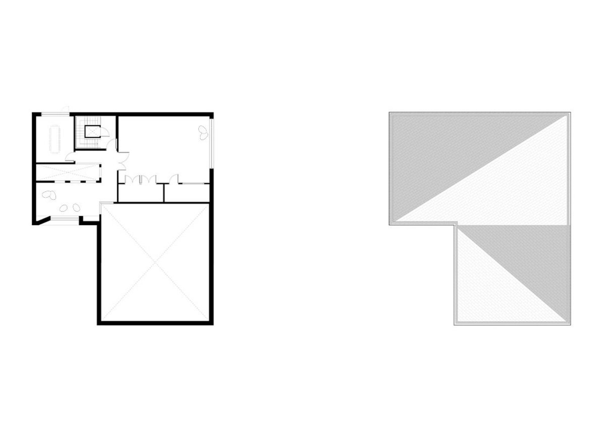 First & Roof plan