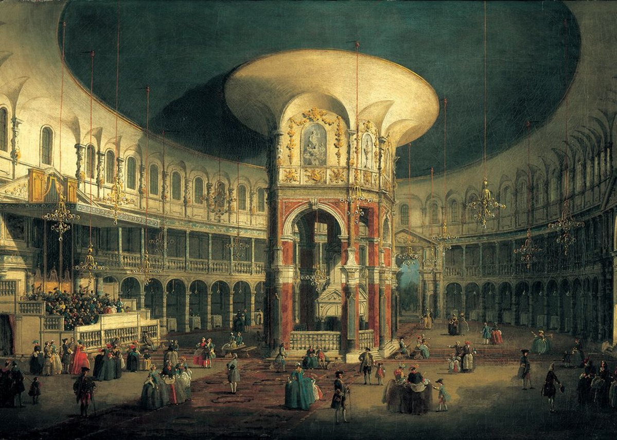 The Interior of the Rotunda, Ranelagh Gardens, Chelsea, 10 years before Mozart played here.