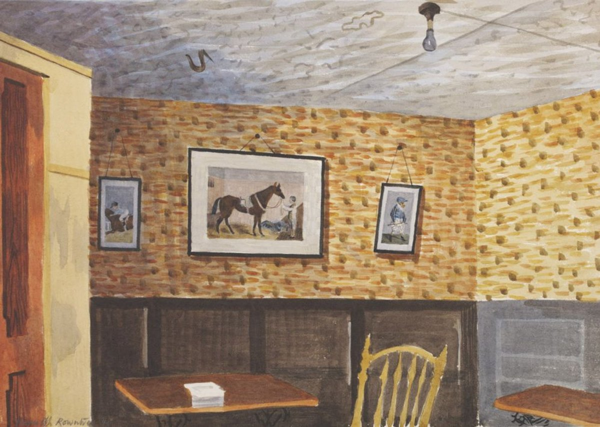 Kenneth Rowntree, The Smoke Room, Ashopton Inn, Derbyshire, 1940. Given by the Pilgrim Trust.