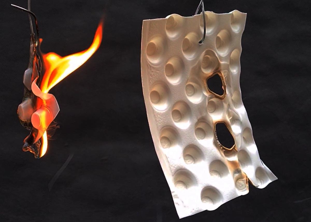 Delta MS 500 Fire retardant membrane has a B-s2, d0 Euroclass rating.