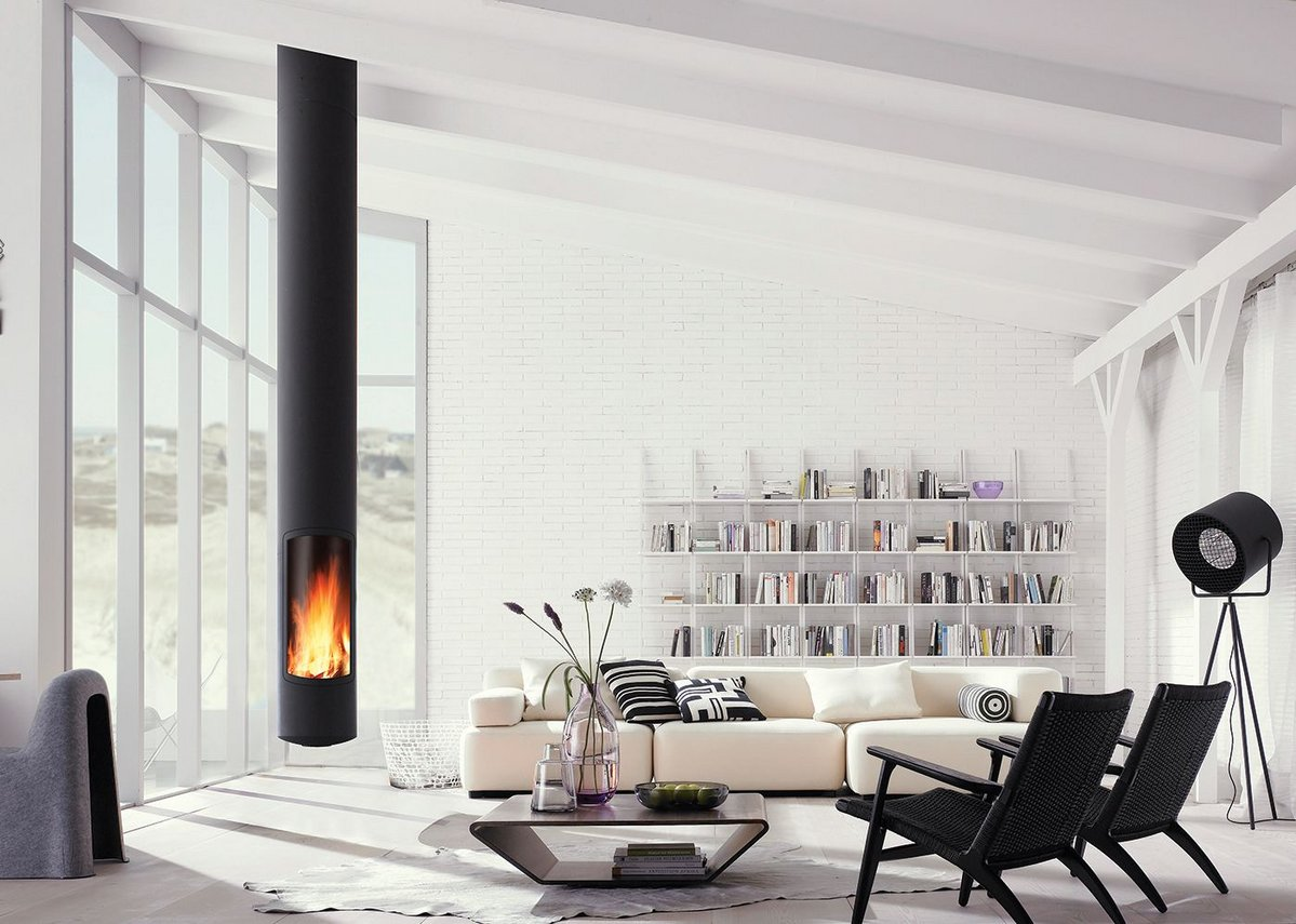 Focus offer a range of styles, such as this suspended fire.
