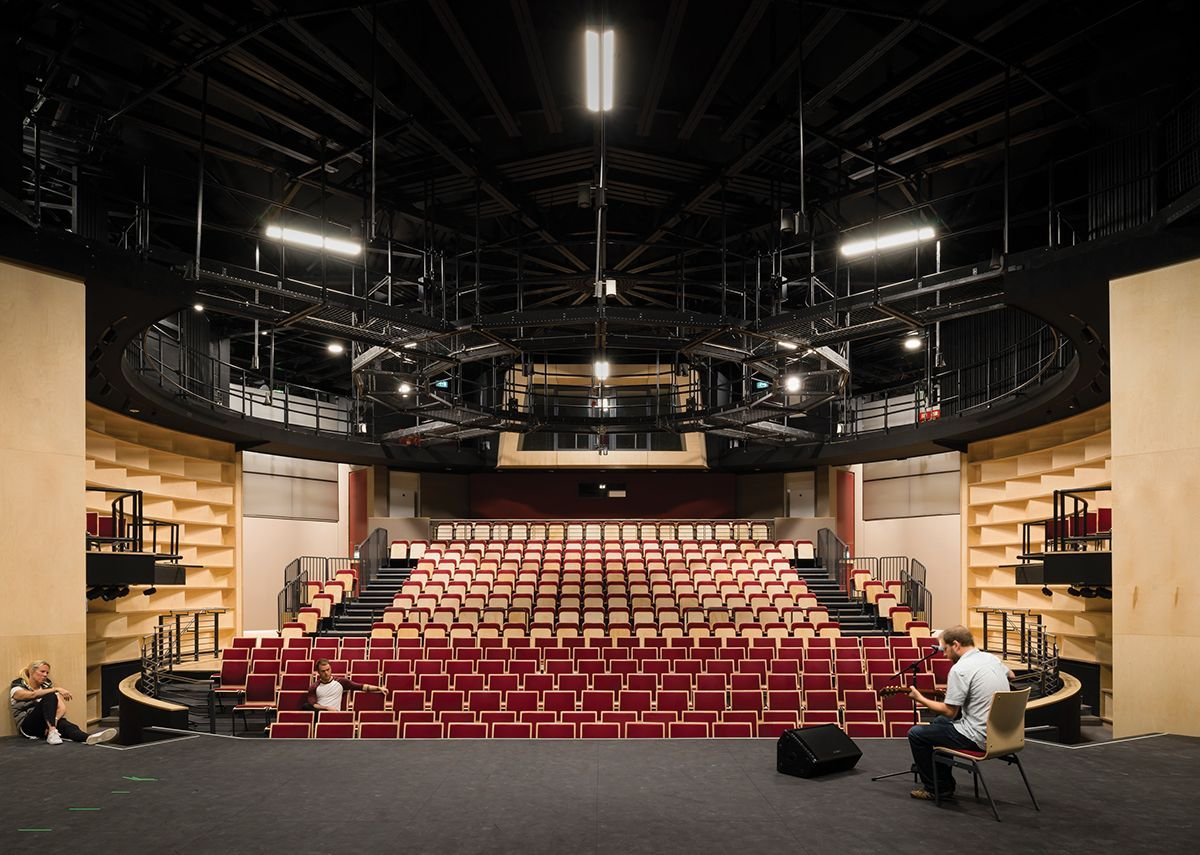 The auditorium now contains 152 fewer seats, creating a more comfortable environment.