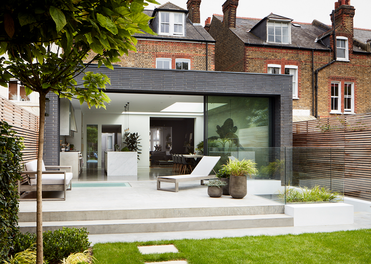 External concrete installations were colour-matched and levels-matched for a seamless transition through the property.