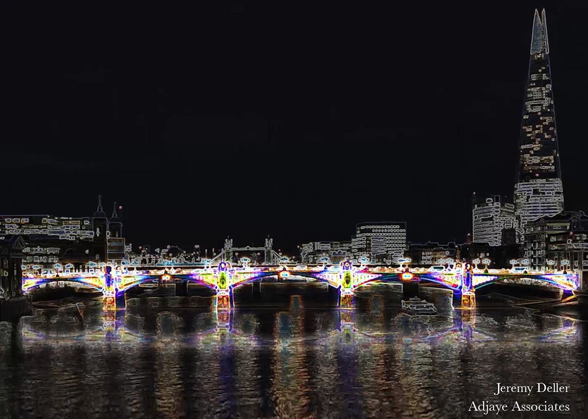 Jeremy Deller – 'Day Glow Bridge' (Southwark Bridge).