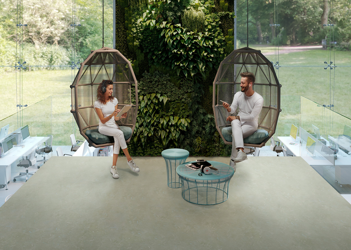 Natural good looks: Gerflor Arabesque DLW Linoleum flooring in Monarca 0305.