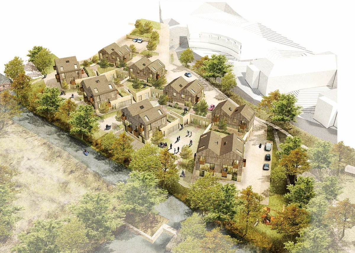 Timber_Mill_Box, a 20-home scheme with business space in Wiltshire.