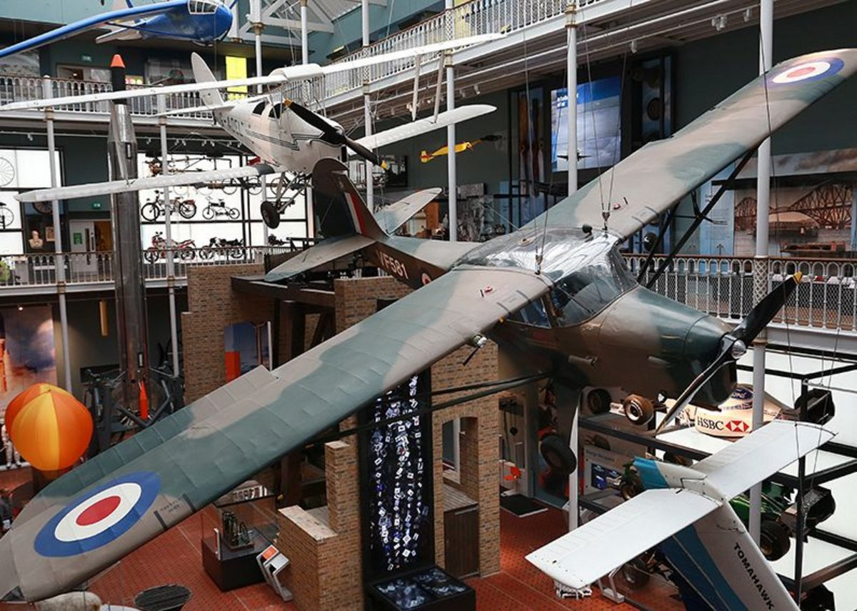 Museum of Scotland new galleries - aircraft display in the atrium