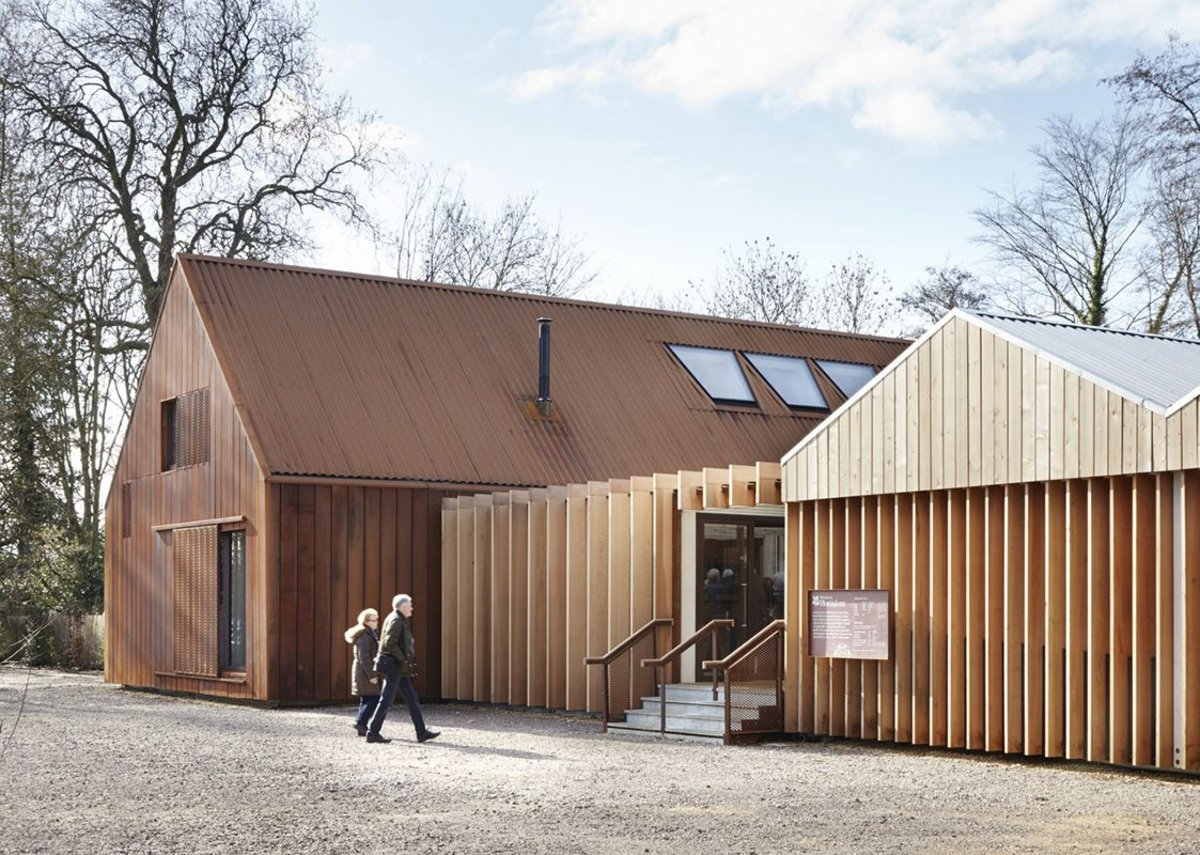 Commercial and leisure – Welcome Centre, Mottisfont Abbey, Hants by Burd Haward Architects for the National Trust.