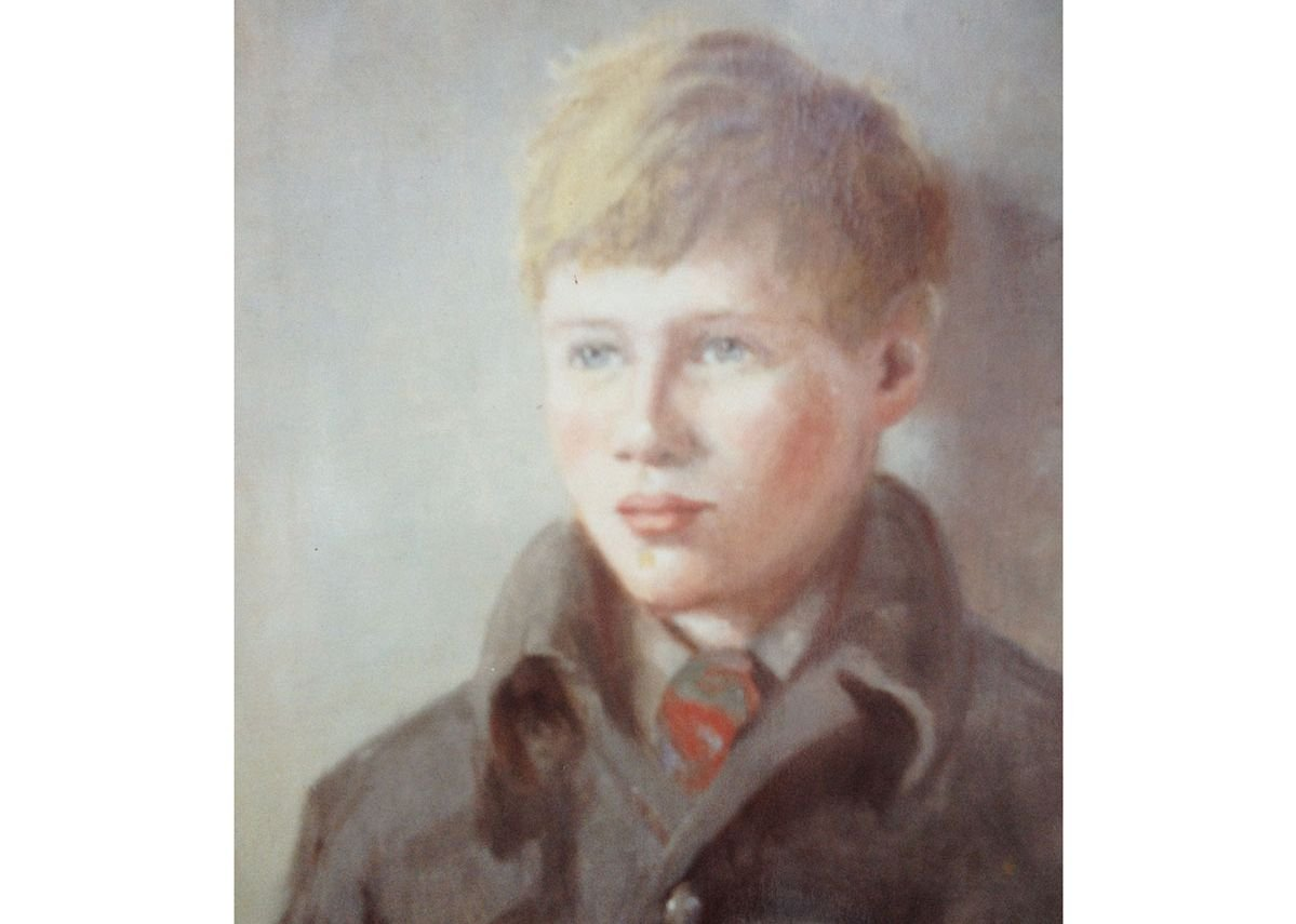 Childhood portrait by OM Dearsley, Grimshaw's grandmother.