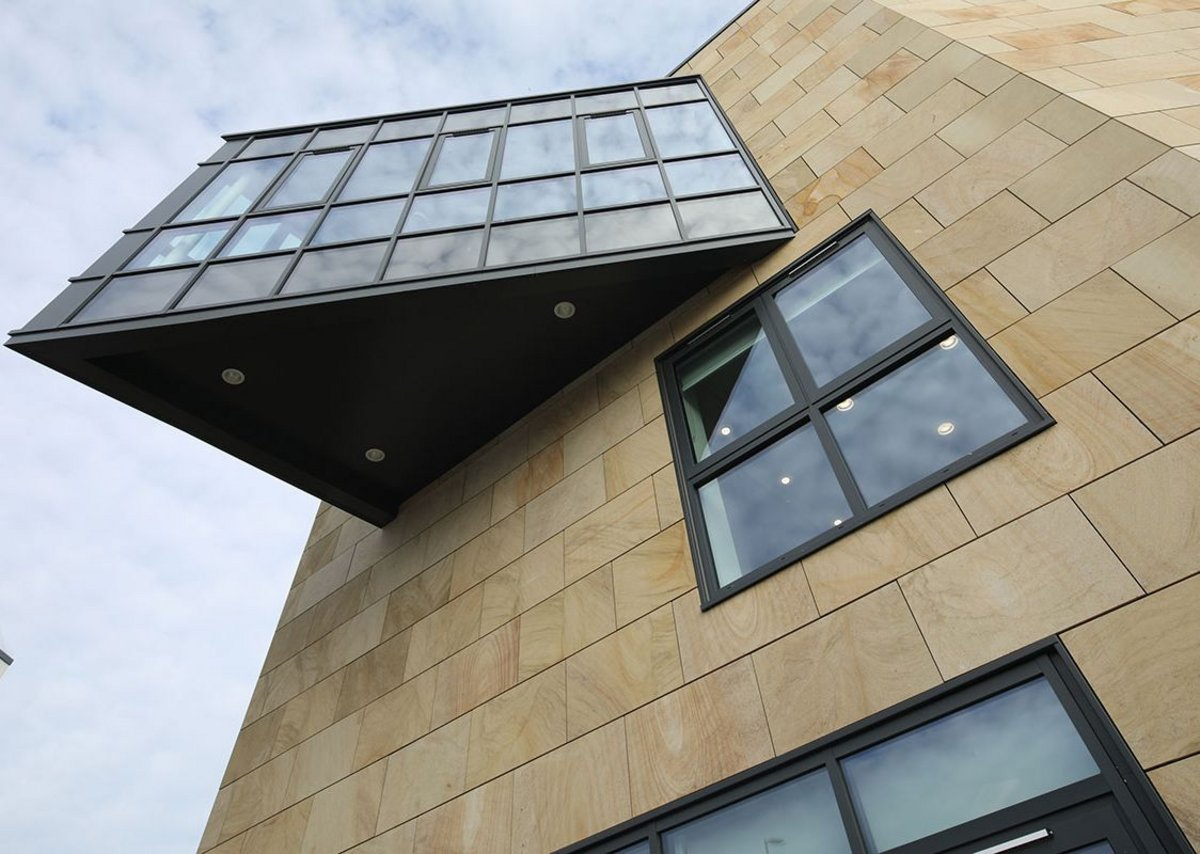 Senior Architectural Systems aluminium glazing solutions on the exterior of GSS Architecture's new development in Sunderland.