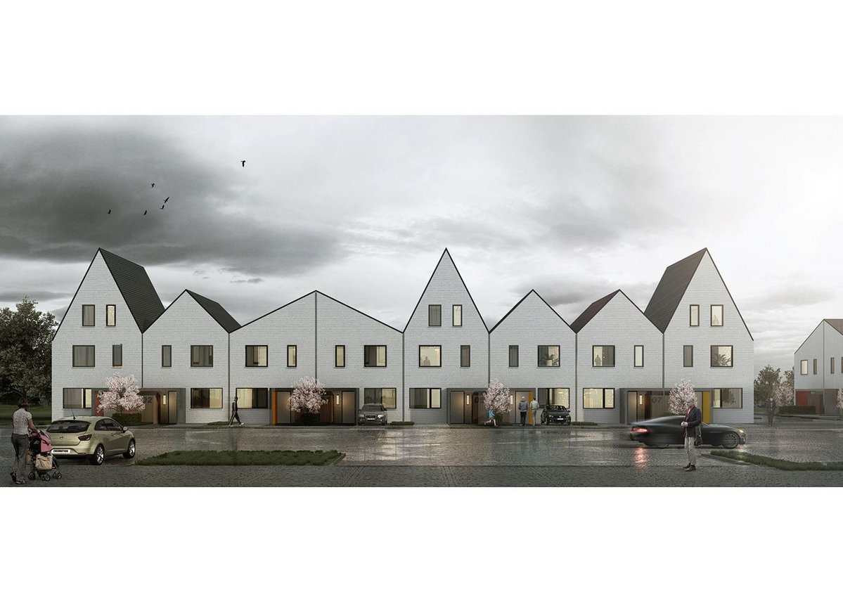 Image by Ruff Architects, executive architects for this AHMM designed housing scheme.