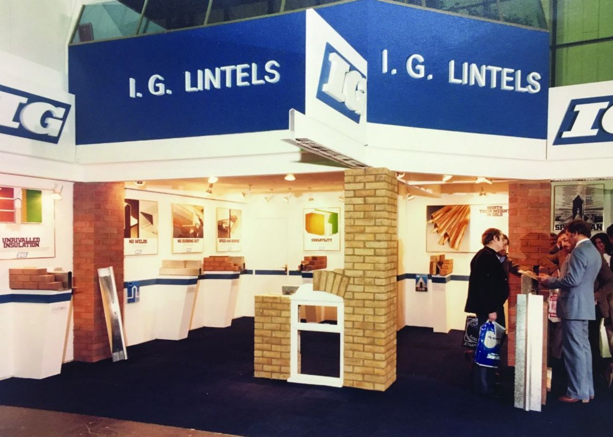 Back in the day: IG Lintels at Interbuild, 1981.