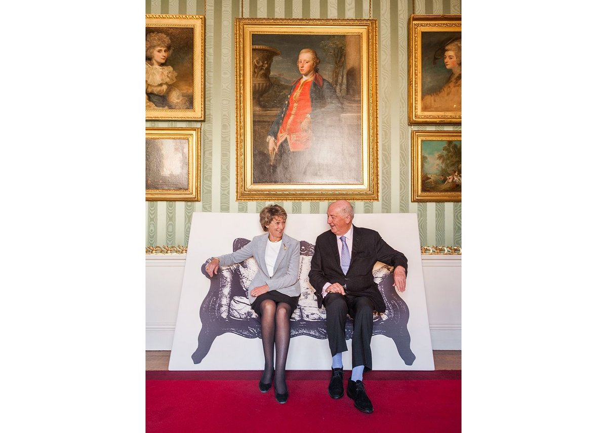 The Duke & Duchess of Devonshire on Canvas Chair by YOY for Innermost